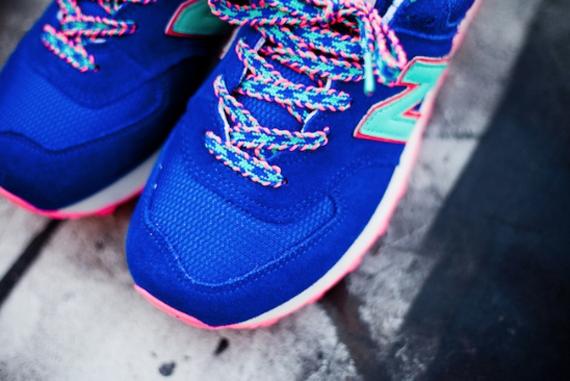 New Balance 574 Blue Pink Teal - Le Site de la Sneaker