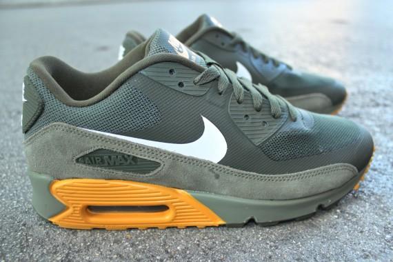 sports shoes fe15b 49af6 Nike Air Max 90 Premium Cargo Khaki Canyon Gold