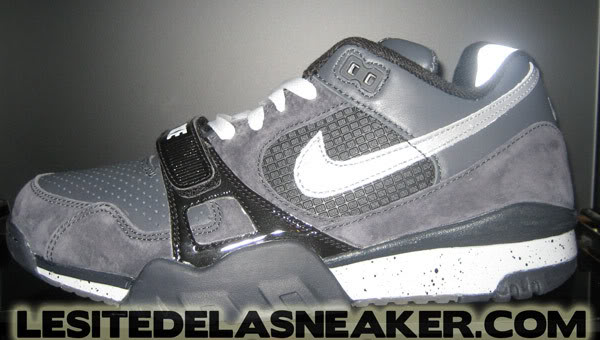 Close Up Nike SB air trainer TW 2 anthracite reflect silver