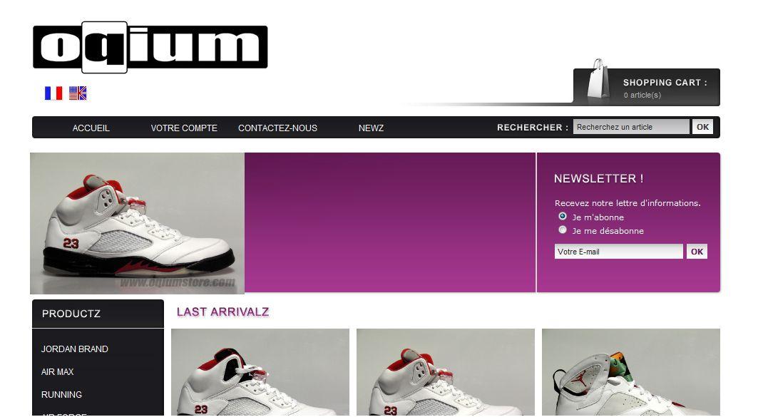 Ouverture Du Online Shop Opium Store Le Site De La Sneaker