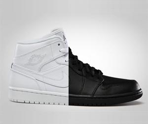 ebf7c7712cf0b5 Air Jordan 1 Mid Tonal Black + White - Le Site de la Sneaker