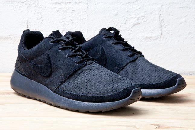 Nike Roshe Run Woven Black Le Site de la Sneaker