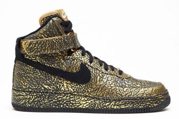 Temprano Martin Luther King Junior Espesar  Nike Air Force 1 iD - Option Metallic Gold Elephant Print - Le Site de la  Sneaker