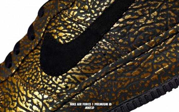 Elephant Option Print Air Site Le Id Force Nike Metallic Gold 1 PXOkiuZ