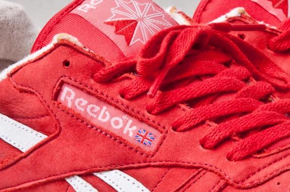Reebok Pelle Classico Camoscio Rosso RqaAUg