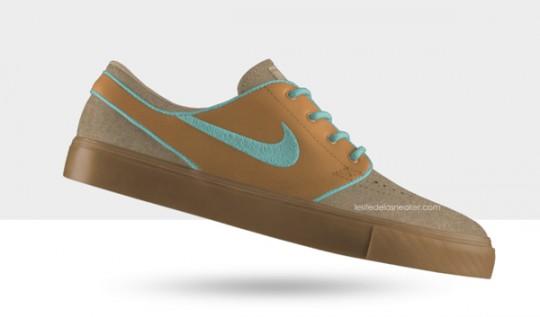Nike SB Stefan Janoski Premium iD - Option Cuir - Gov
