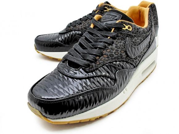 air max 1 woven black leopard