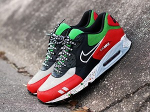 nike lunettes de soleil cas - Nike Air Max 90 'Bordeaux' Customs par Zen One - Le Site de la Sneaker