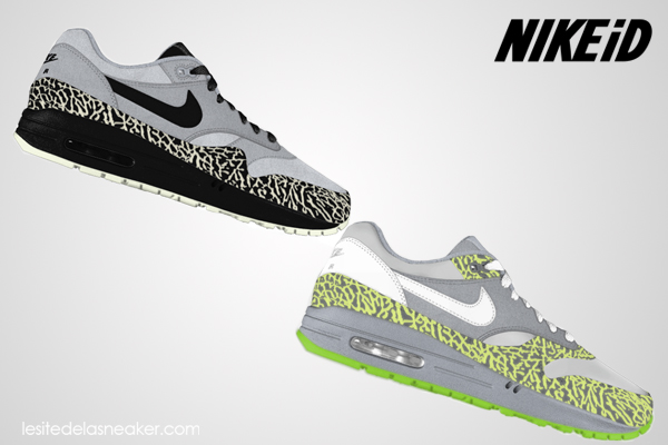 nike air max 1 id option elephant print
