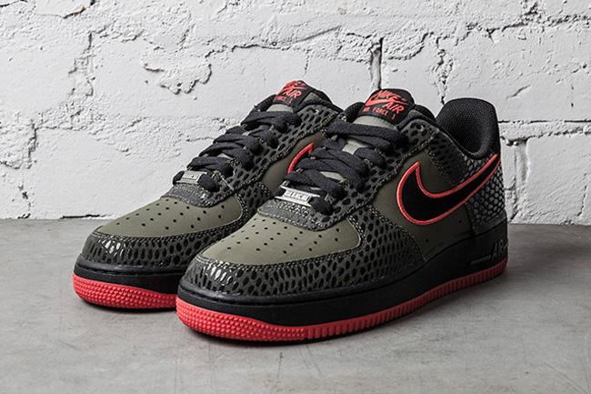 Le Olive La 1 Low Red Nike Air Site De Force Sneaker eCxrBodW