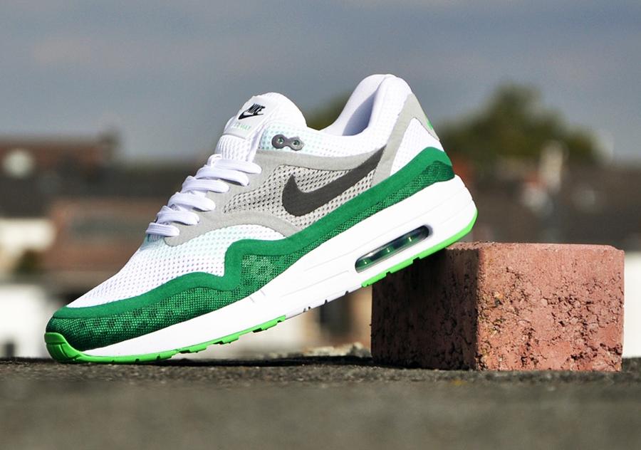 Nike Air Max 1 Barefoot Pine Green Le Site de la Sneaker
