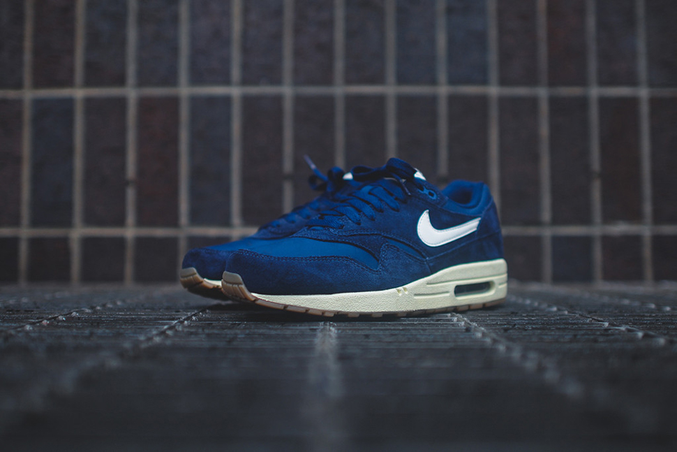 detailed look 19019 b231a ... official nike air max 1 essential navy suede 62e80 9f9dc ...