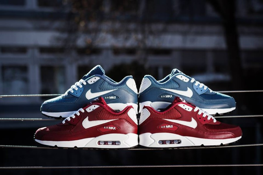nike air max 90 essential new slate team red le site de la sneaker. Black Bedroom Furniture Sets. Home Design Ideas