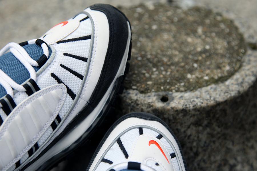 Nike Air Max 98 OG White Deep Orange Black