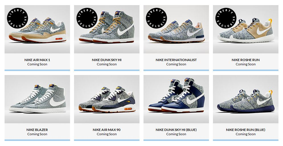 Liberty of London x Nike Collection Printemps 2014 Le Site