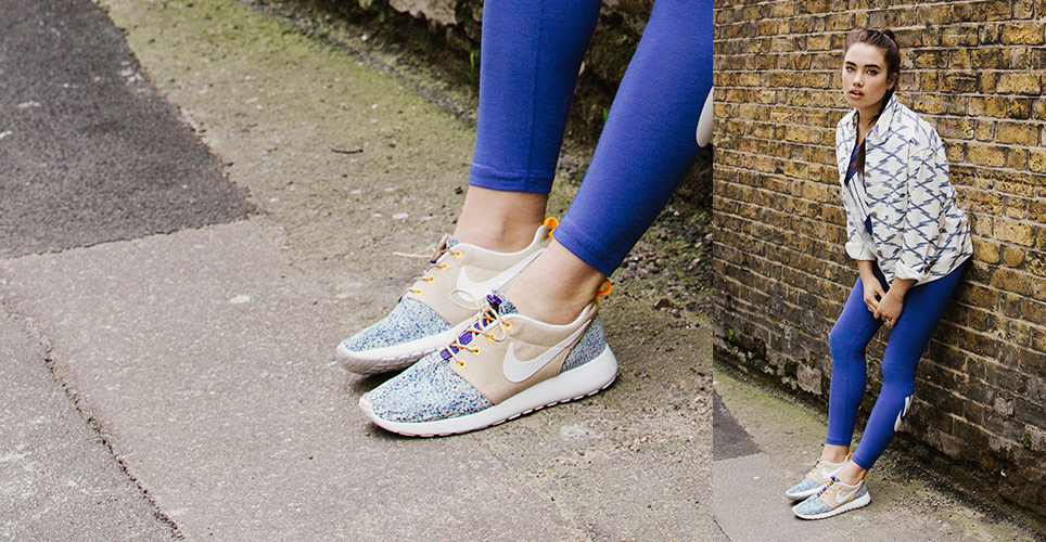 check out 63cba 8cf87 liberty x nike femme roshe run linen