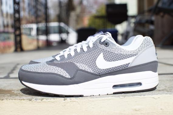 Nike Air Max 1 Jacquard Grey White Le Site de la Sneaker
