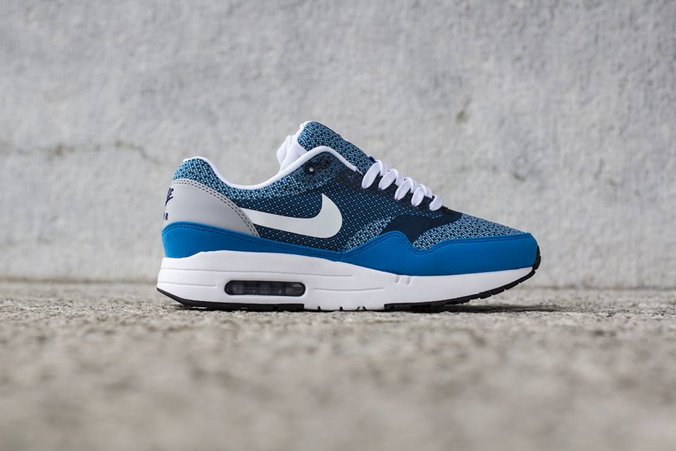 2018 sneakers great fit buy sale Nike Air Max 1 Jacquard Photo Blue