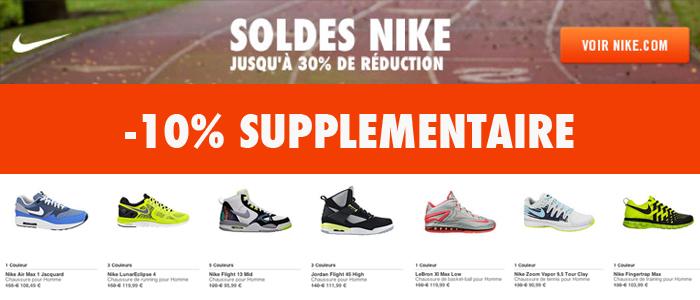 photos officielles 63ff0 f5ca4 Code promo: -10% supplémentaire sur les soldes Nike - Le ...