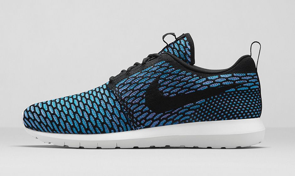 nike roshe run flyknit black turquoise le site de la. Black Bedroom Furniture Sets. Home Design Ideas