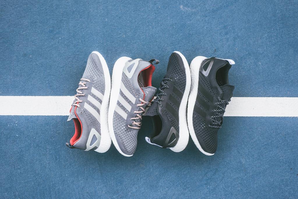 many styles great quality good adidas Consortium Pure Boost Primeknit Grey & Black