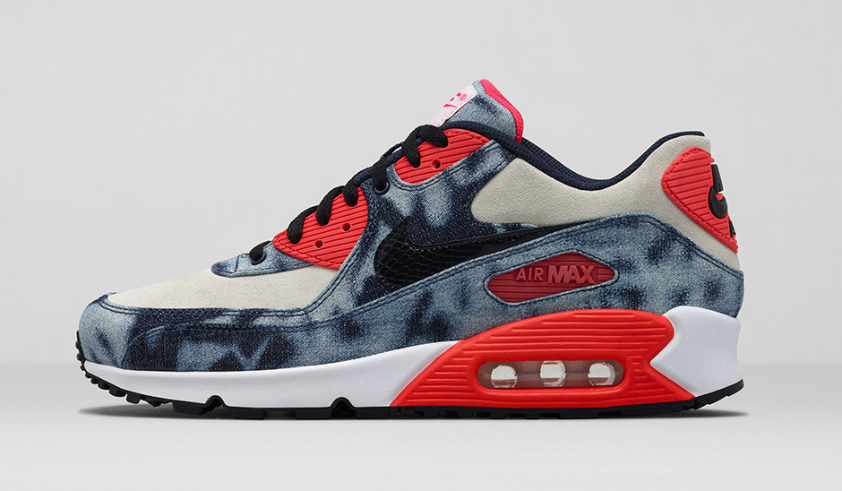 acheter en ligne 7cbab 2fb59 Nike Air Max 90 Infrared Washed Denim
