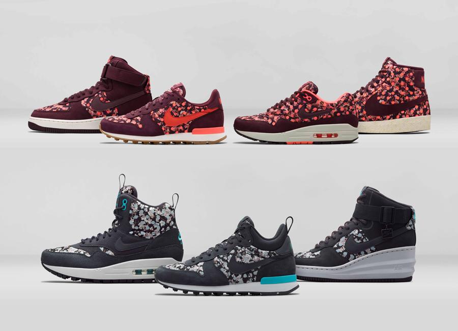 buy online 84991 b5f6e Liberty x Nike Belmont Ivy Collection Hiver 2014. Acheter. Nike poursuit sa  collaboration avec ...