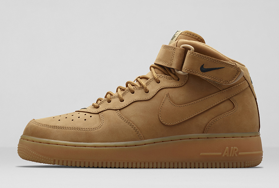 new concept e154e 0a96f nike-air-force-1-mid-wheat-flax-2