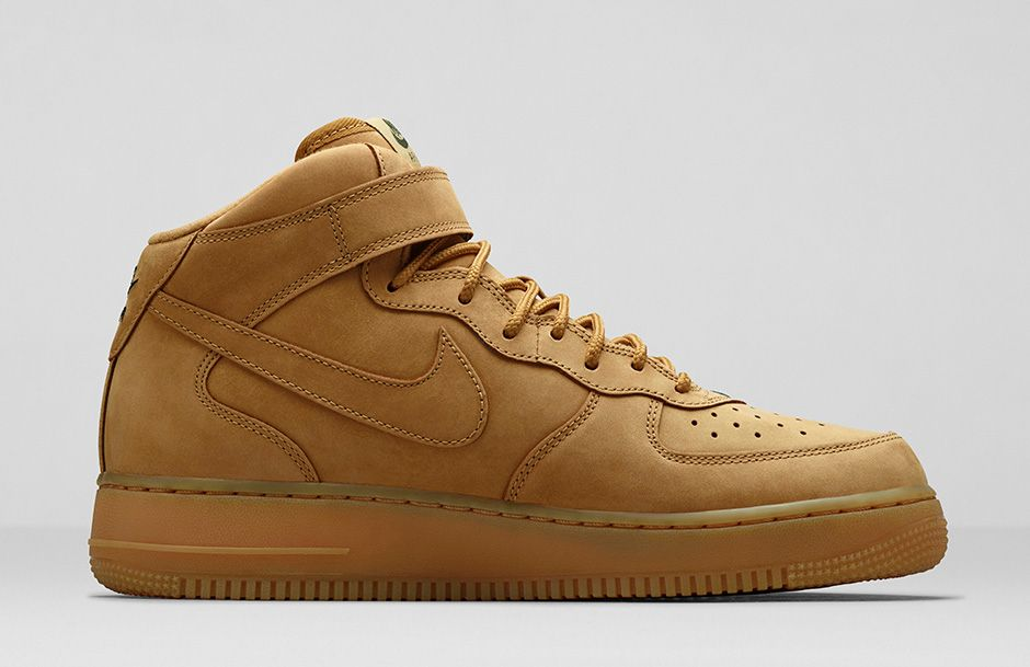 nike air force 1 mid wheat le site de la sneaker. Black Bedroom Furniture Sets. Home Design Ideas