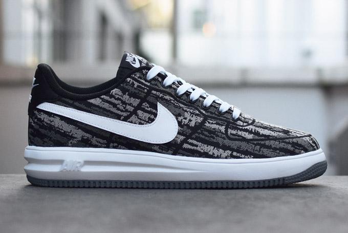 Force Black White 1 Nike Lunar Jacquard knw0OX8P