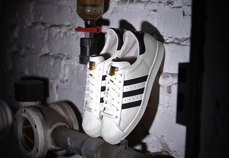 Adidas Superstar 80s Deluxe Og Vintage Hvit / Svart VN0yVG