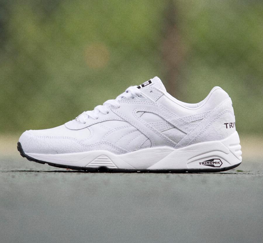 puma trinomic r698 blanche