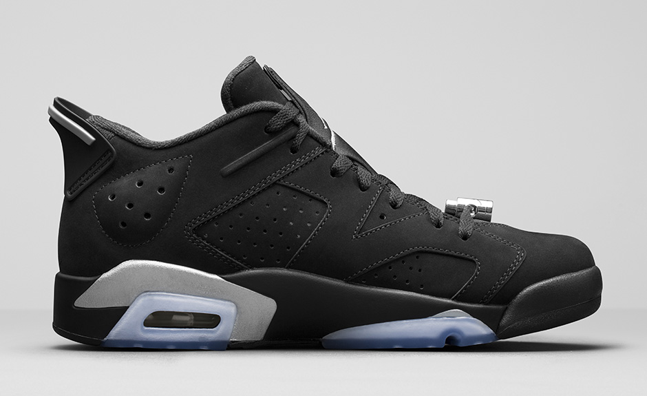 design de qualité 3b351 b1ee5 Air Jordan 6 Low Black Metallic Silver 2015