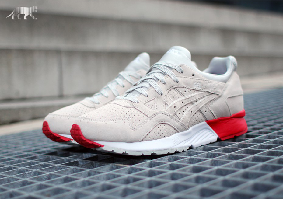 asics rouge blanche