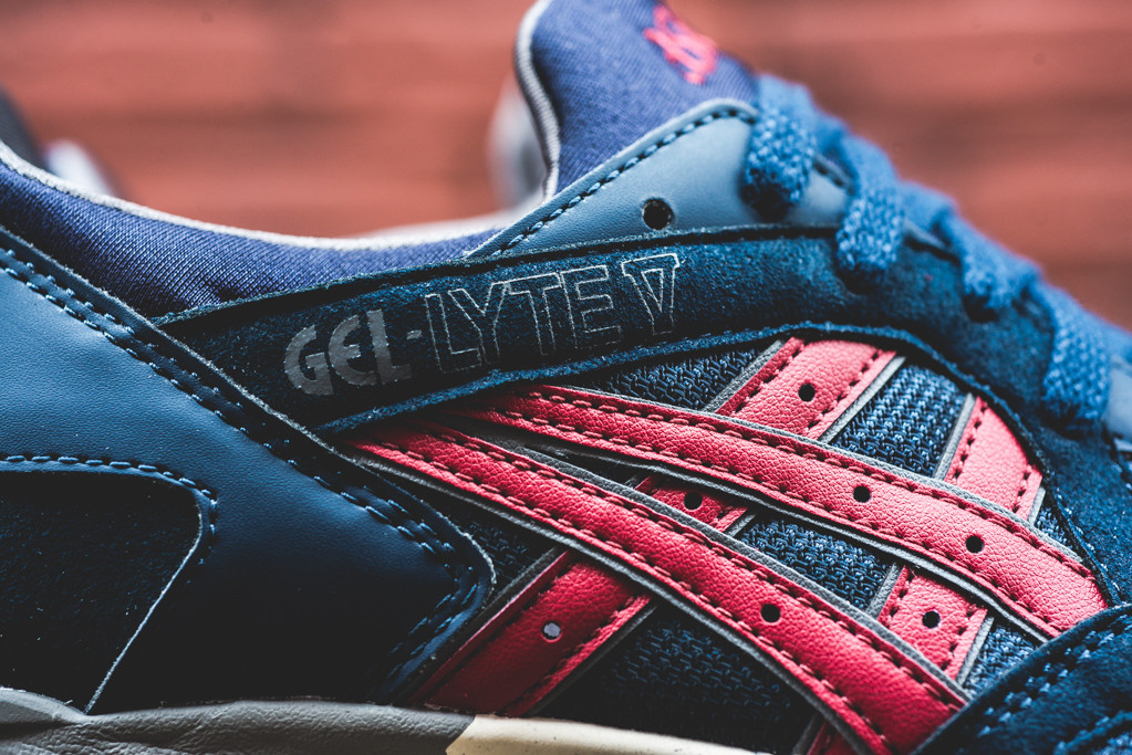 Sneaker Lyte Navy Burgundy Asics Le V De Site Gel La FJ1lTKc