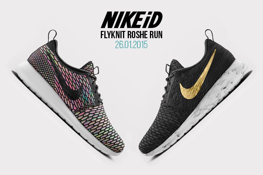 La Nike Flyknit Roshe Run débarque sur NIKEiD Le Site de