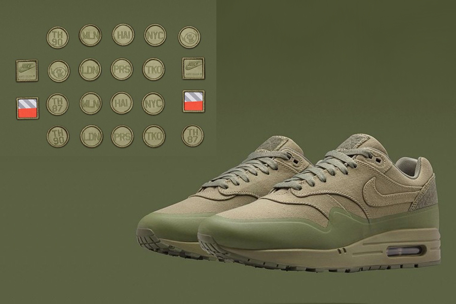 the best attitude 42ab5 be55d Nike Air Max 1 Patch Steel Green