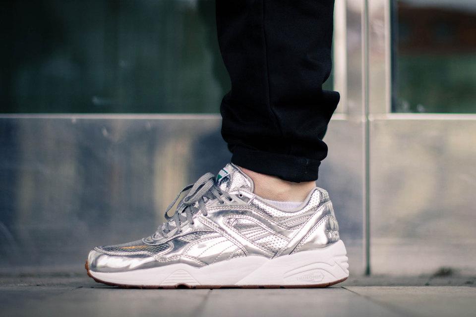 puma r698 metallic silver