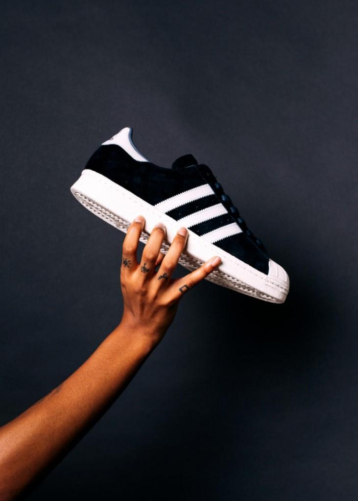 adidas superstar noir suede