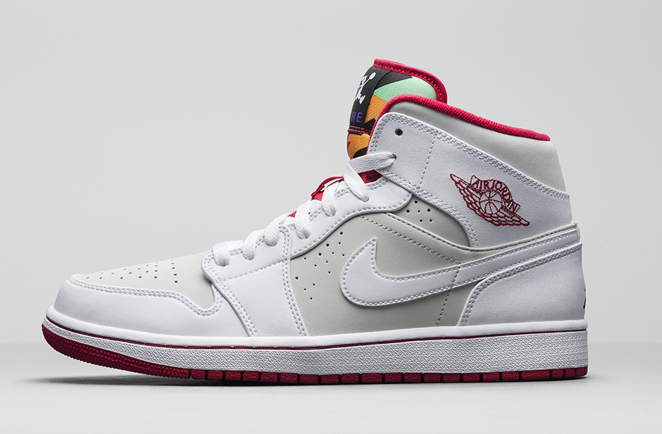 air jordan 1 mid gris rouge
