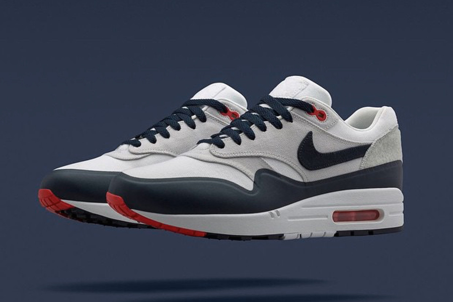 Nike Air Max 1 Patch OG White Navy Red Preview Le Site