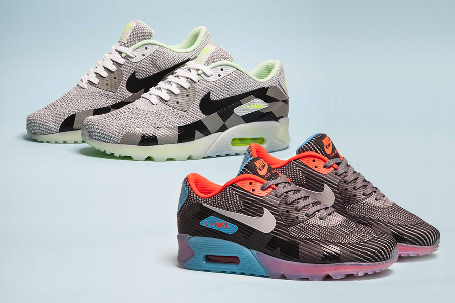 basket nike air max 90 jacquard ice gris