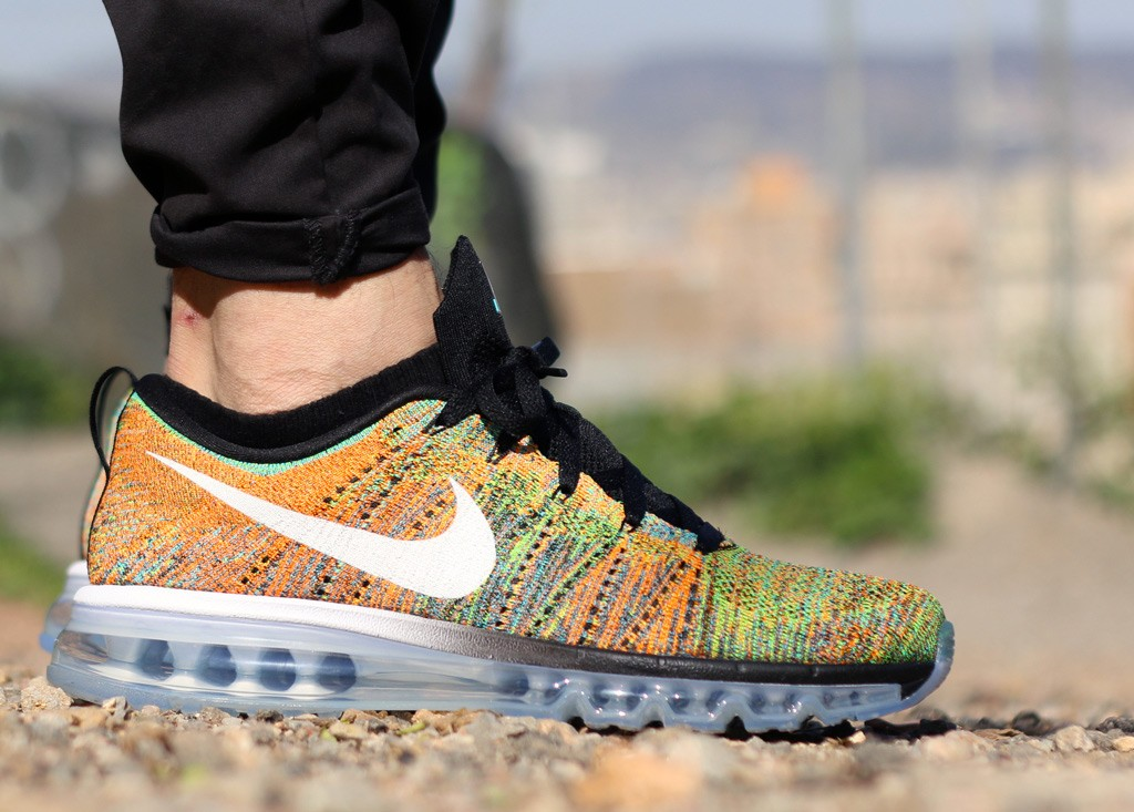 f48e6a252718 ... discount code for air max 2015 flyknit multicolor nike flyknit air max  multicolor on feet 86604