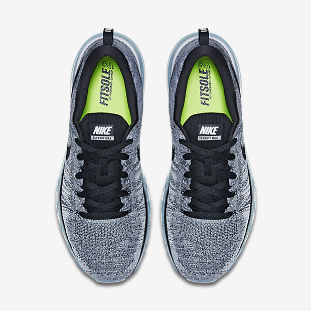 nike flyknit air max grise