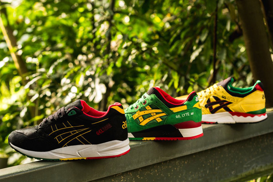 asics gel lyte iii v saga rasta pack le site de la sneaker. Black Bedroom Furniture Sets. Home Design Ideas