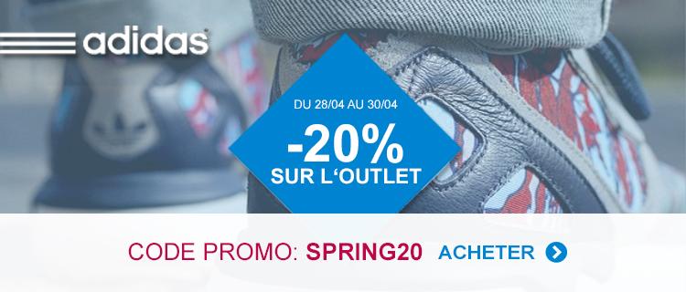 Nouveau Code Promo Adidas: 20% sur la partie Outlet Le