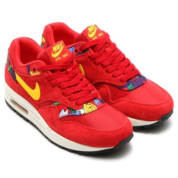 ca39753a489fd ... best price nike wmns air max 1 aloha print red 02c74 bf45f