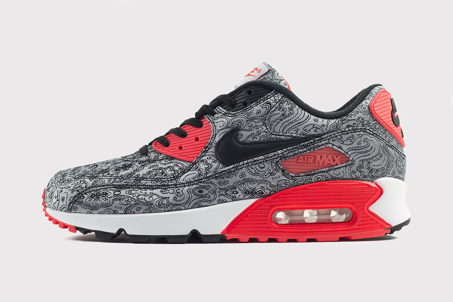 nike air max 90 paisley infrared le site de la sneaker. Black Bedroom Furniture Sets. Home Design Ideas