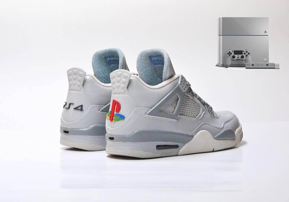Air Jordan 4 Quot Jrdn4 X Ps4 20th Anniversary Quot Custom Le