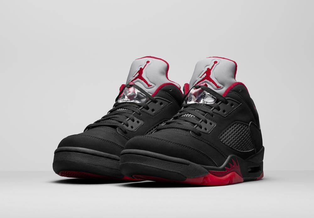 chaussures de séparation 335cc e173c czech air jordan 5 noir rouge dd086 be0ec